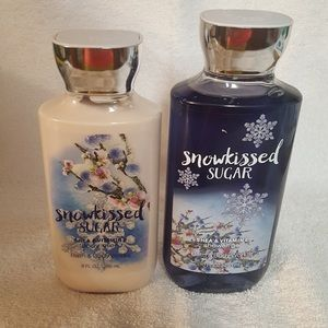 Retired Bath &Body Works Snowkissed Sugar Set of 2